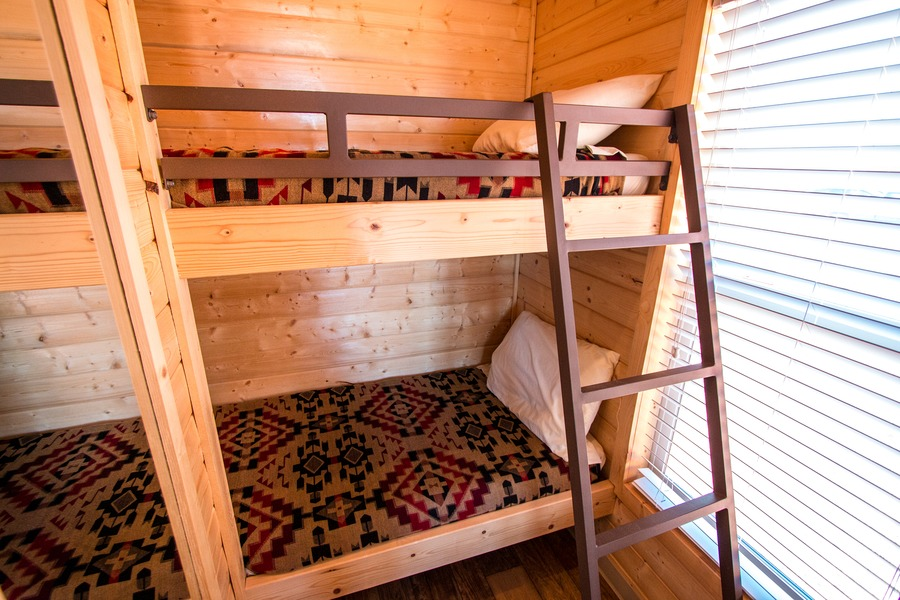 Lovely  bunks After a few days in our camper the shower was a highlight But you have to be conservative since some of the Navajo tribes still don ut have
