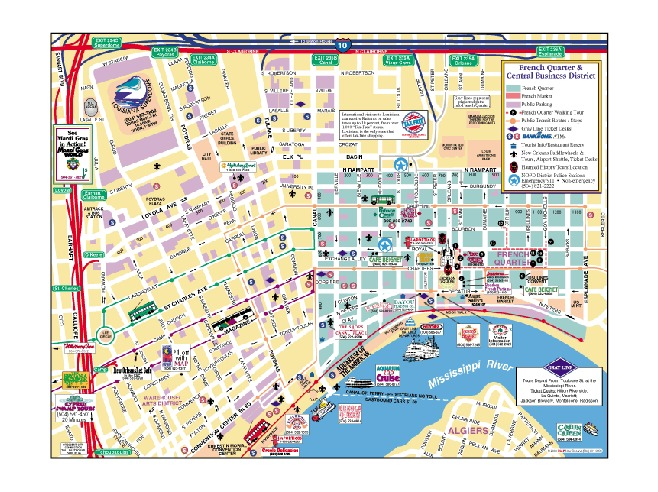 Gallery For Gt New Orleans Tourist Map