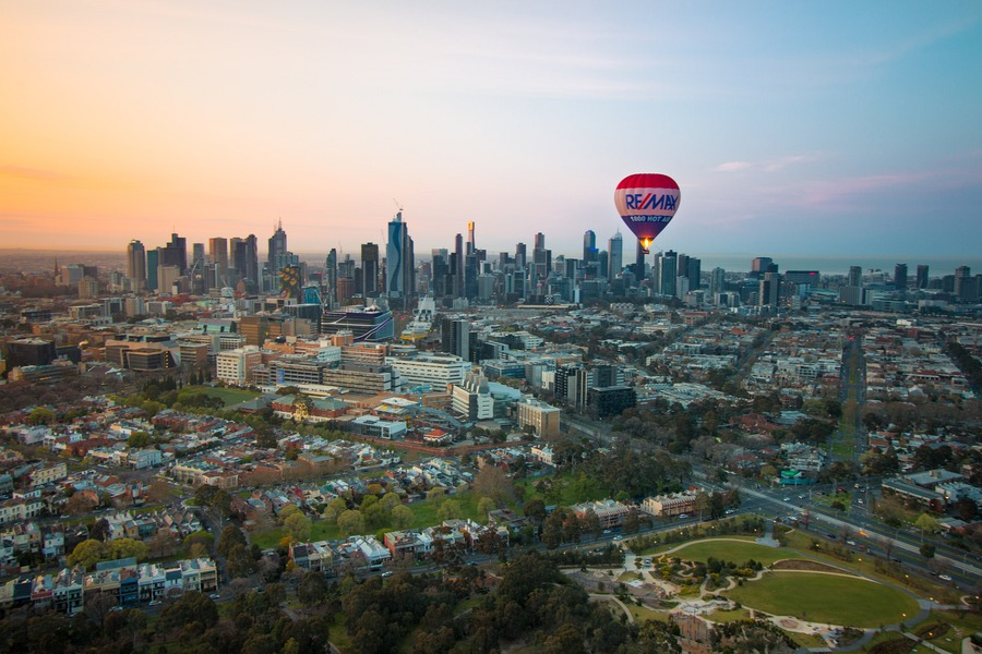 Hot Air Balloon Melbourne The Best View Of The World S