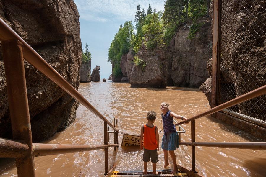 Hopewell Rocks With Kids Educational And Muddy Plus Bay