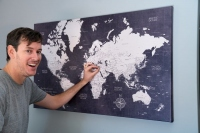 Push Pin Travel Map: Every Travel Lover Wants One Of These
