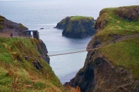 Cliffside Capers At Carrick-A-Rede Rope Bridge, Northern Ireland