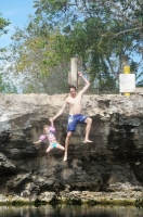 How My 2 & 4 Year Old Cliff-Jumped Into A Mexican Cenote